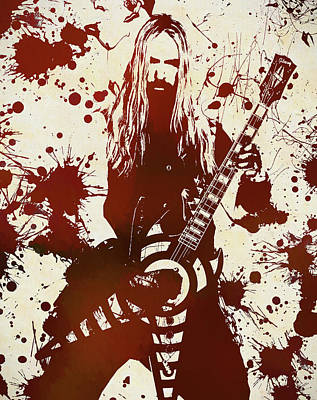 Music Royalty-Free and Rights-Managed Images - Zakk Wylde by Dan Sproul