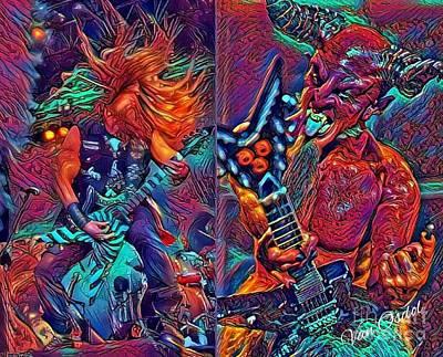 Zakk Wylde Vs The Devil Art Print