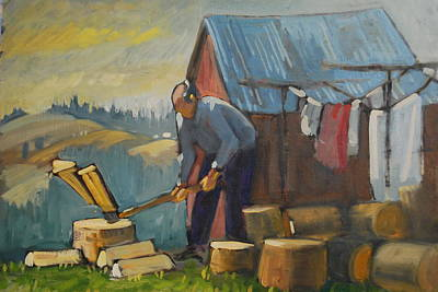 Painting - Zakopane Wood Splitter by Len Stomski