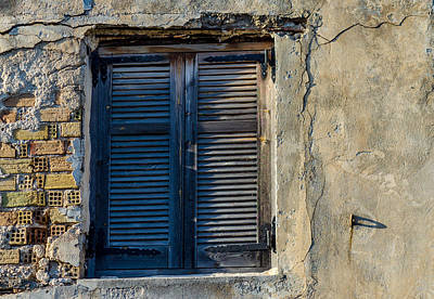 Zakynthos Town Window Art Print