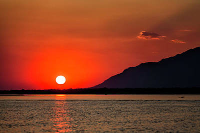 Photograph - Zambezi River Sunset by Fran Gallogly