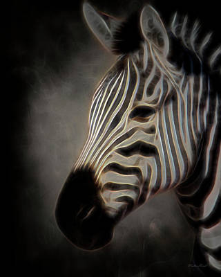 Digital Art - Zantasy Zebra 1a by Walter Herrit