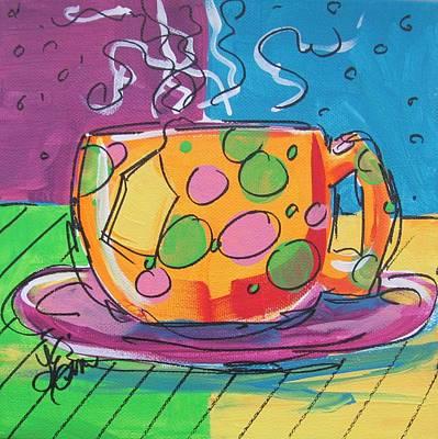Zany Teacup Art Print