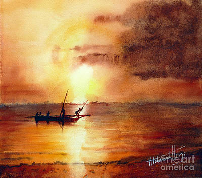 Mohamed Painting - Zanzibar Sunrise by Mohamed Hirji