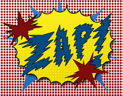 Zap Pop Art Art Print by Suzanne Barber