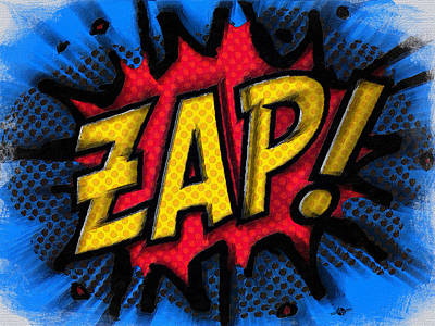 Painting - Zap by Tony Rubino