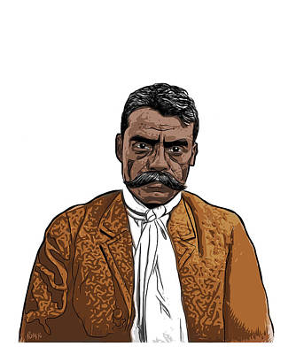 Digital Art - Zapata by Antonio Romero