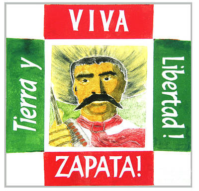 Mexican Mixed Media - Zapata by Paul Helm