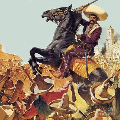 Bandit Painting - Zapata The Bandit Who Ruled Mexico by James Edwin McConnell