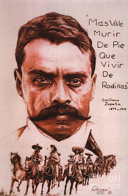 Zapata With Riderless Horse Art Print by Bill Olivas