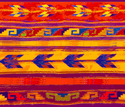 Digital Art - Zapotec Colors by Vagabond Folk Art - Virginia Vivier