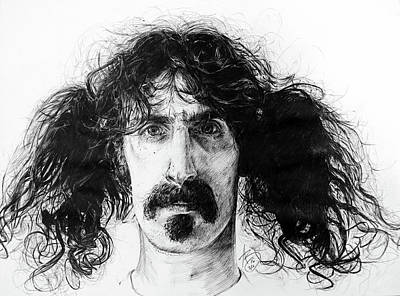 Drawing - Zappa by Anthony Brooks