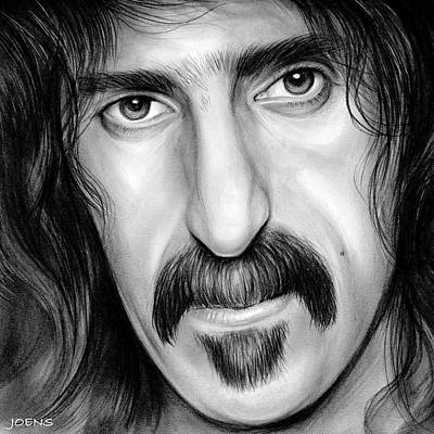 Musicians Drawings - Zappa by Greg Joens