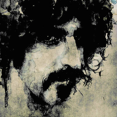 Frank Painting - Zappa by Paul Lovering