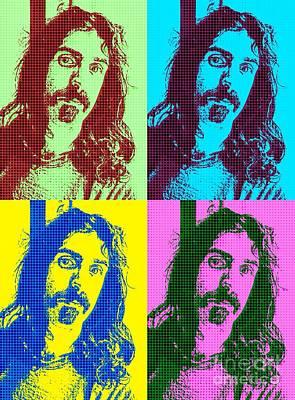 Blue Hues - Zappa Pop Art by John Malone