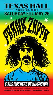 Zappa Texas Hall Art Print by Gary Grayson