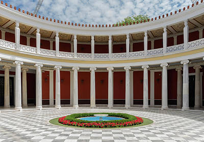 Photograph - Zappeion Courtyard by Jebulon