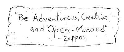 Zappos Core Value Art Print by Michael Mooney