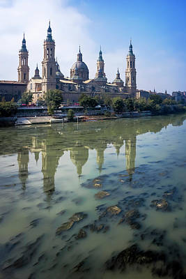 Zaragoza And Ebro River Art Print