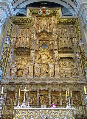Photograph - Zaragoza Cathedral 18 by Randall Weidner