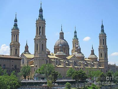 Photograph - Zaragoza Cathedral 3 by Randall Weidner