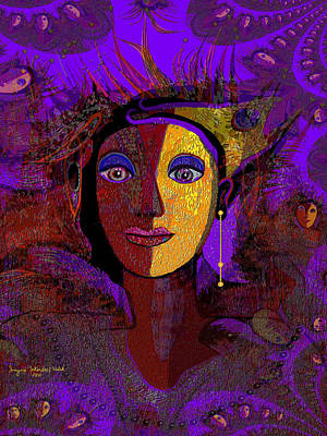 Zarah With Golden Earring  - 194 Art Print