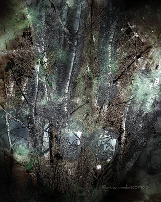 Elf Digital Art - Zauberwald Vollmondnacht Magic Forest Night Of The Full Moon by Mimulux patricia no