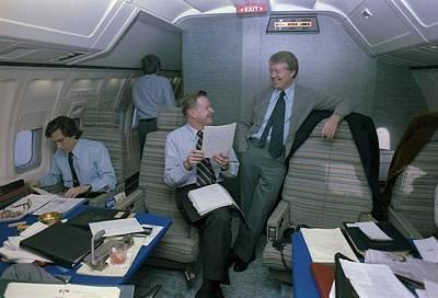 Zbigniew Brzezinski And Jimmy Carter Art Print by Everett