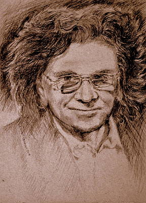 Drawing - Zbyszek,musician And Vocalist by Henryk Gorecki