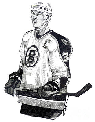 Nhl Hockey Drawing - Zdeno Chara by Dave Olsen