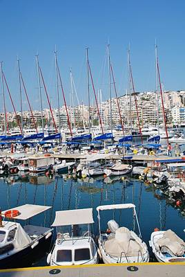 Photograph - Zea Marina In Athens by David Fowler