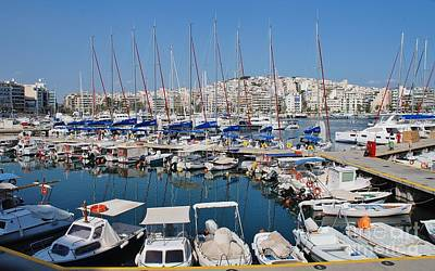 Photograph - Zea Marina In Piraeus Athens by David Fowler