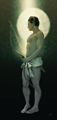 Archer Digital Art - Zealous Satyr Archer by Joaquin Abella