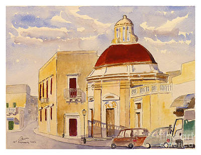 Painting - Our Lady Of Sorrows Basilica Zebbug by Godwin Cassar