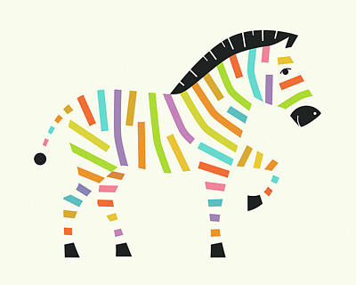 Z Is For Zebra - 1 Art Print