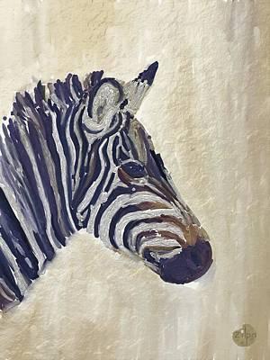 Painting - Zebra 2 by Zilpa Van der Gragt