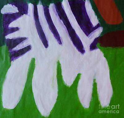 Standard Tshirts Painting - Zebra by Patrick Francis