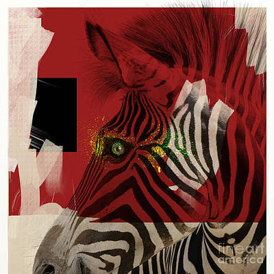 Digital Art - Zebra 4.0 by Nola Lee Kelsey
