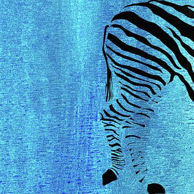 Zebra Animal Black And White Decorative Poster 7 Art Print