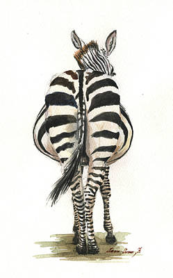 Zebra Art Painting - Zebra Back by Juan Bosco