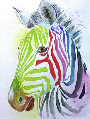 Painting - My Polychromatic Friend by Barbara Teller