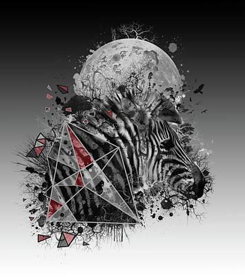 Digital Art - Zebra by Bekim Art