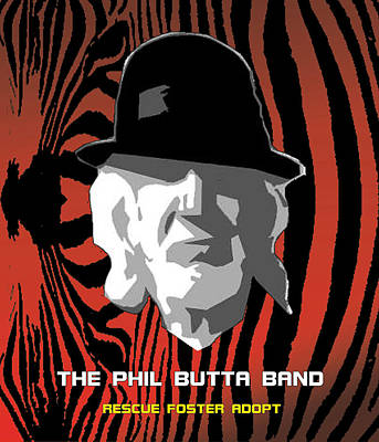 Potus Digital Art - Zebra Blues Man by Philip Butta