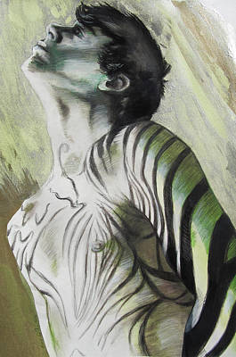 Painting - Zebra Boy In Spring by Rene Capone