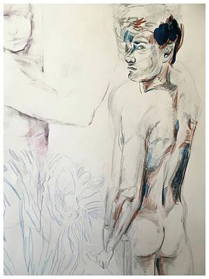 Drawing - Zebra Boy Sketch 2017 by Rene Capone