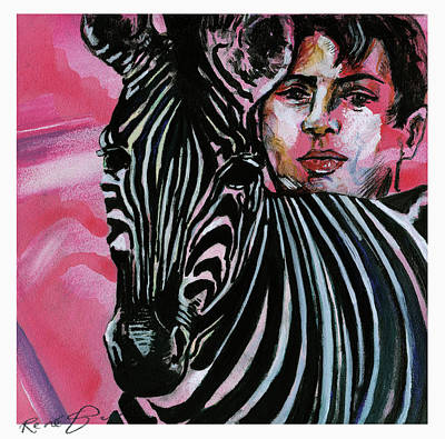 Painting - Zebra Boy Squared  by Rene Capone