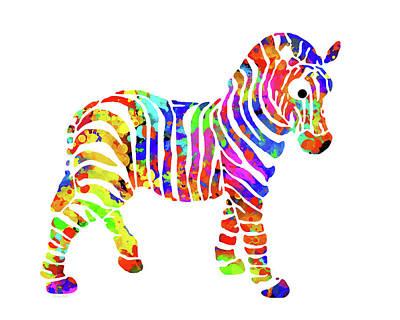 Zebra Mixed Media - Zebra by Christina Rollo