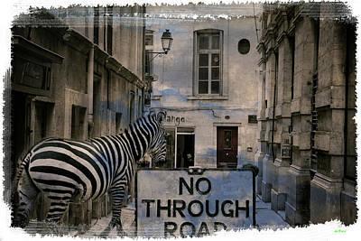 Zebra Digital Art - Zebra Mall by KJ DePace