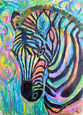 Painting - Zebra Curve by Kendall Kessler