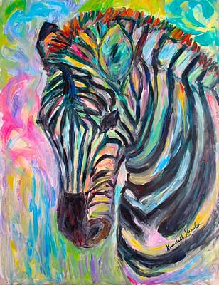 Painting - Zebra Curve Stage Two by Kendall Kessler